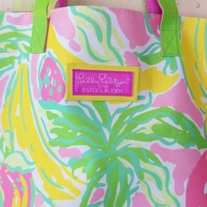 Lilly Pulitzer for Estee Lauder hand tote / bag